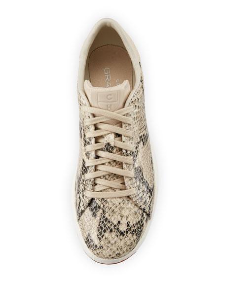 GrandPro Snake-Print Tennis Sneakers, Roccia