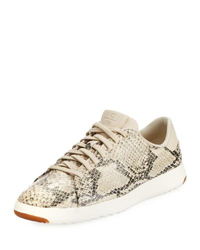 GrandPro Snake-Print Tennis Sneaker, Roccia
