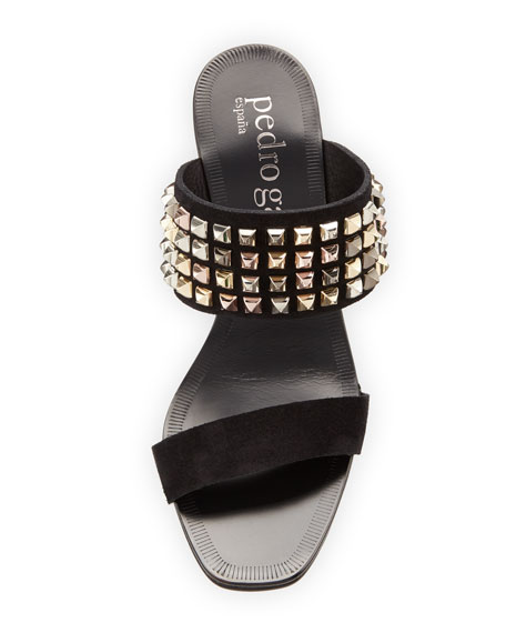 Xilana Studded Suede Mule Sandal