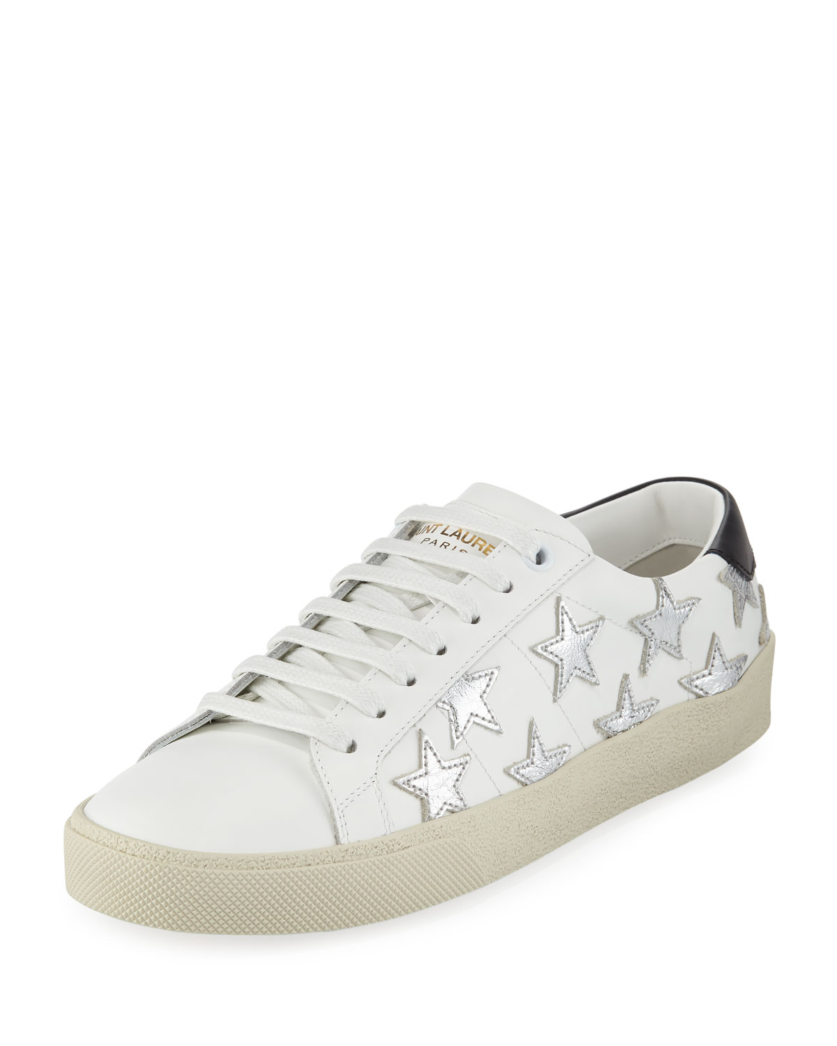 f3fe8631f954 Saint Laurent Court Classic Low-Top Sneakers with Stars