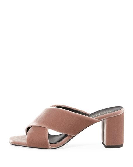 Lou Lou Velvet Slide Sandal