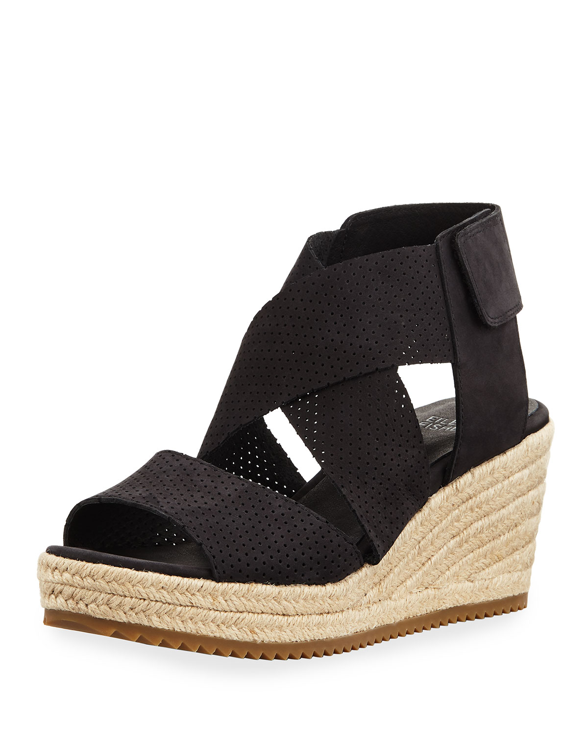f09c6e2de093 Eileen Fisher Willow Perforated Nubuck Espadrille Sandal