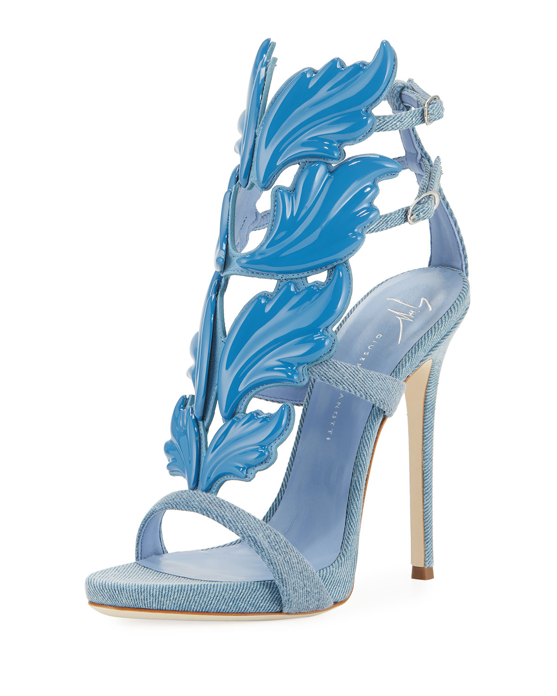 Zanotti Sandales Giuseppe Plate-forme De Noeud De Conception - Bleu QILrDEo7