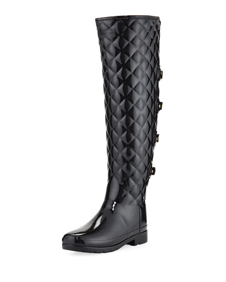 Hunter Boot Refined Gloss Quilted Over-The-Knee Boot