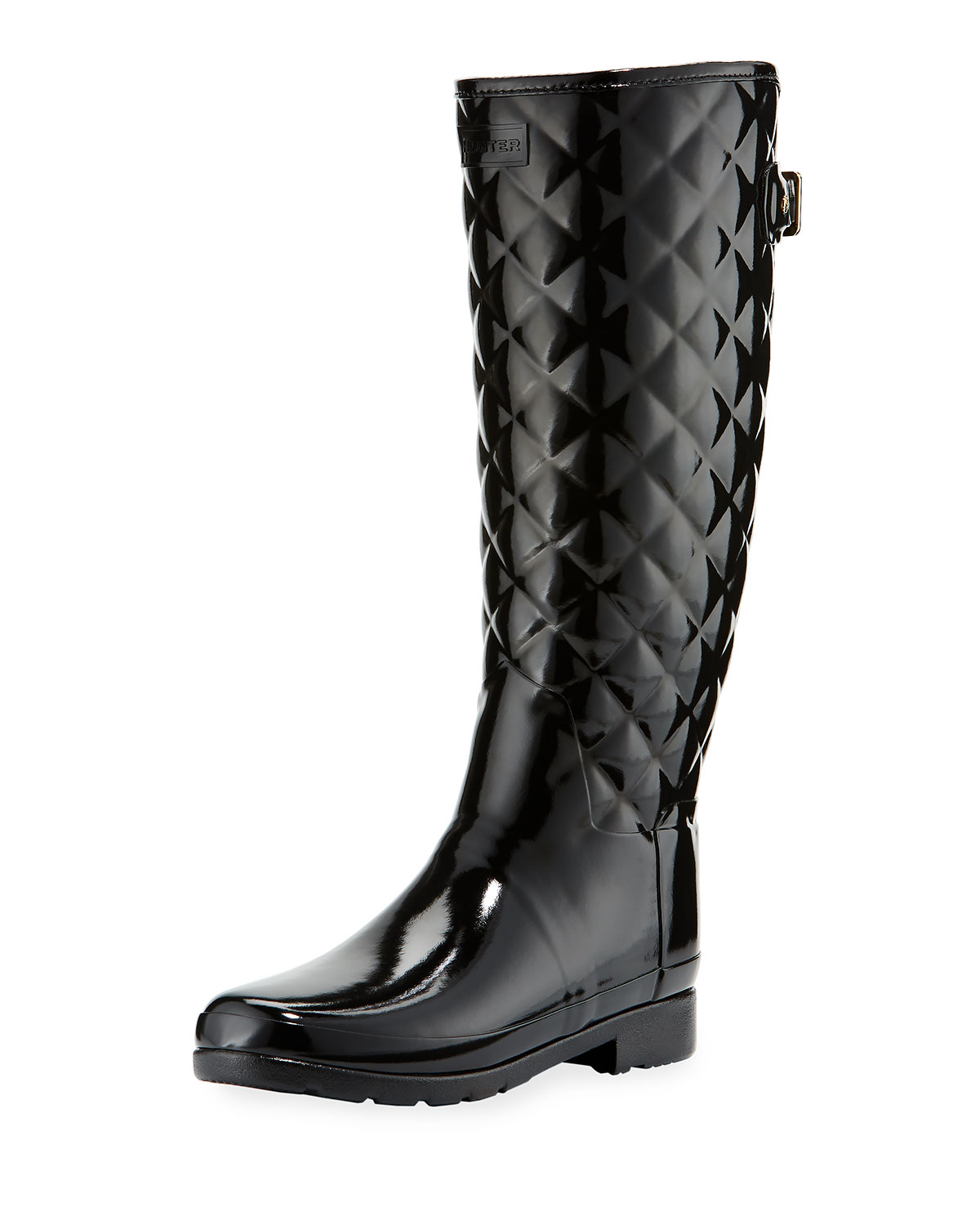 41907dc50898 Hunter Boot Tall Gloss Quilted Rubber Boot