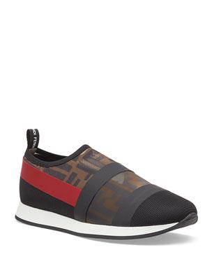 b39c289d7ea Fendi Runway Mesh FF Trainer Sneakers