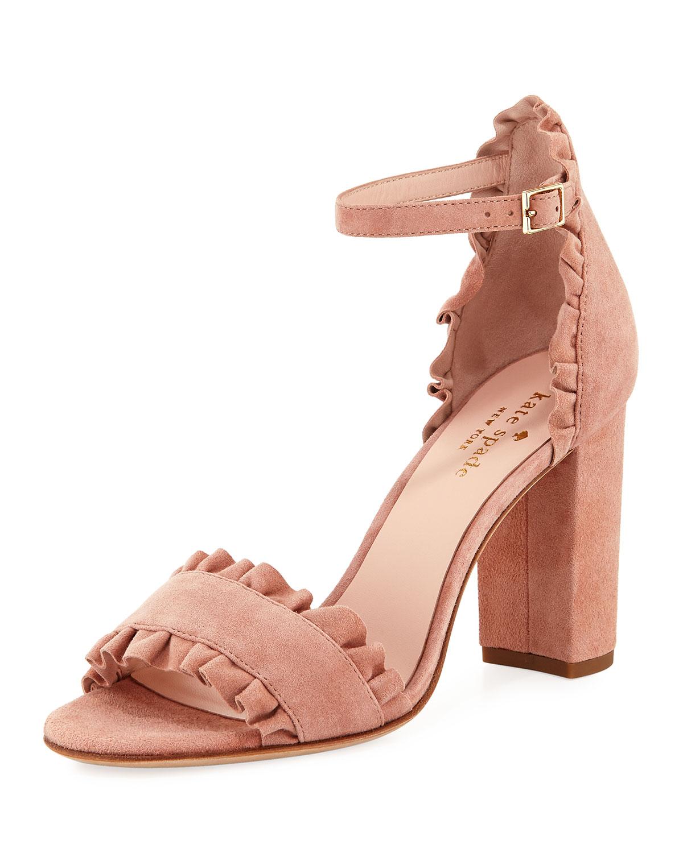 916d61a2b93b kate spade new york odele suede ruffle city sandal