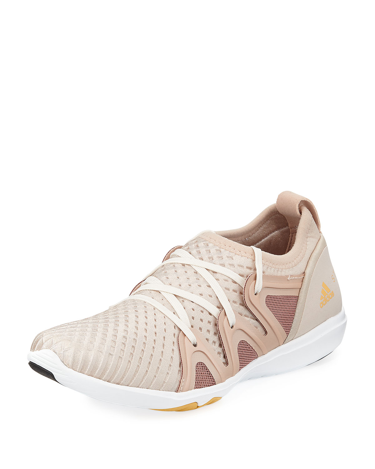 best sneakers 22718 d5197 adidas by Stella McCartney CrazyMove Pro Mid-Top Fabric Trainer Sneakers,  Rose