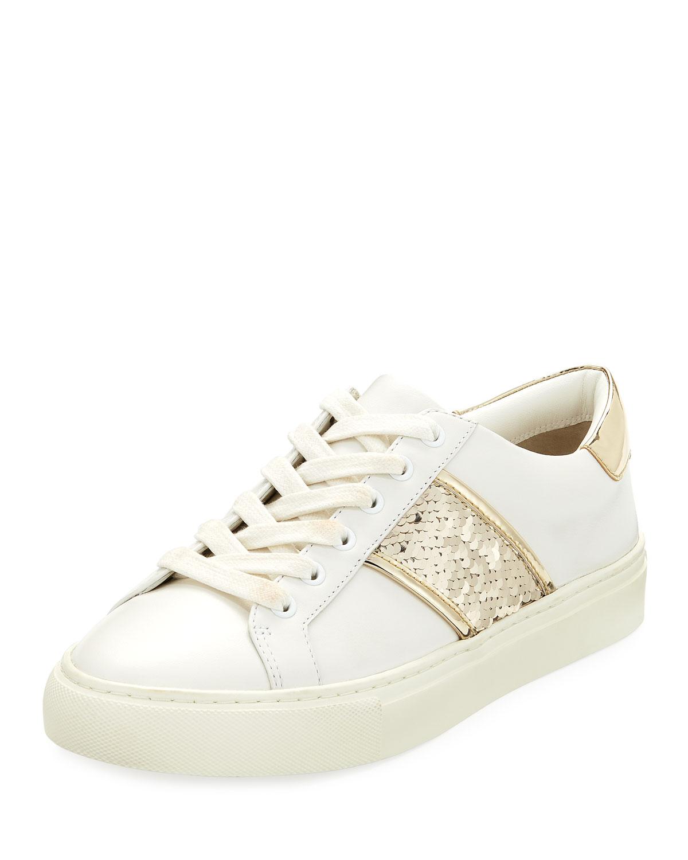 b7fd900b5e27 Tory Burch Carter Lace-Up Low-Top Sneaker | Neiman Marcus