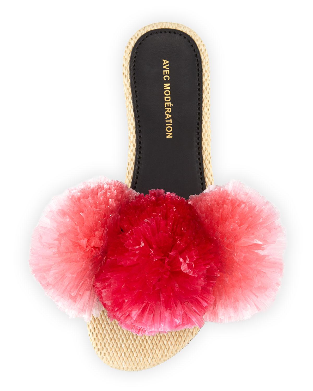 AVEC MODéRATION Pom pom slippers