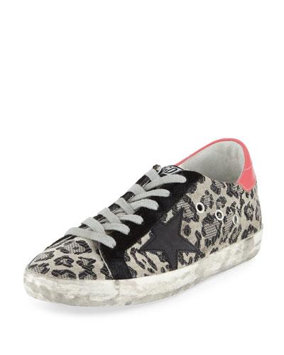Superstar Metallic Leopard Low-Top Sneakers