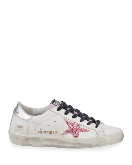 Superstar Glitter Platform Sneakers