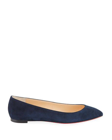 Eloise Suede Red Sole Flat