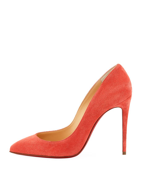 Christian Louboutin Pigalle Follies Suede 100mm Red Sole Pump