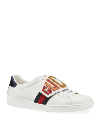 Gucci Ace Rainbow Gucci Patch Leather