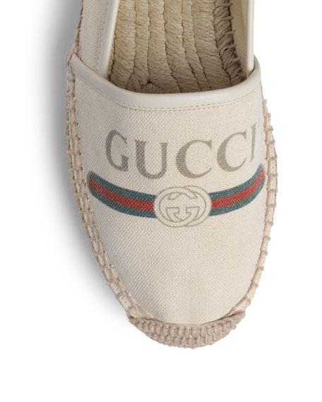 Gucci Gucci-Print Canvas Espadrille