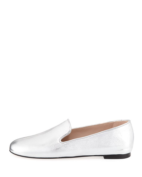 MyGuy Metallic Flat Loafer