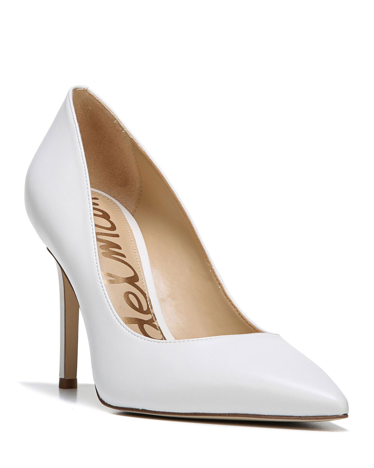 f903297a8e Sam Edelman Hazel Napa Leather Pointed-Toe Pumps | Neiman Marcus