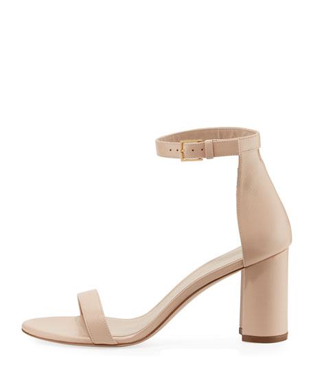 Stuart Weitzman 75LESSNUDIST Saffiano City Sandals