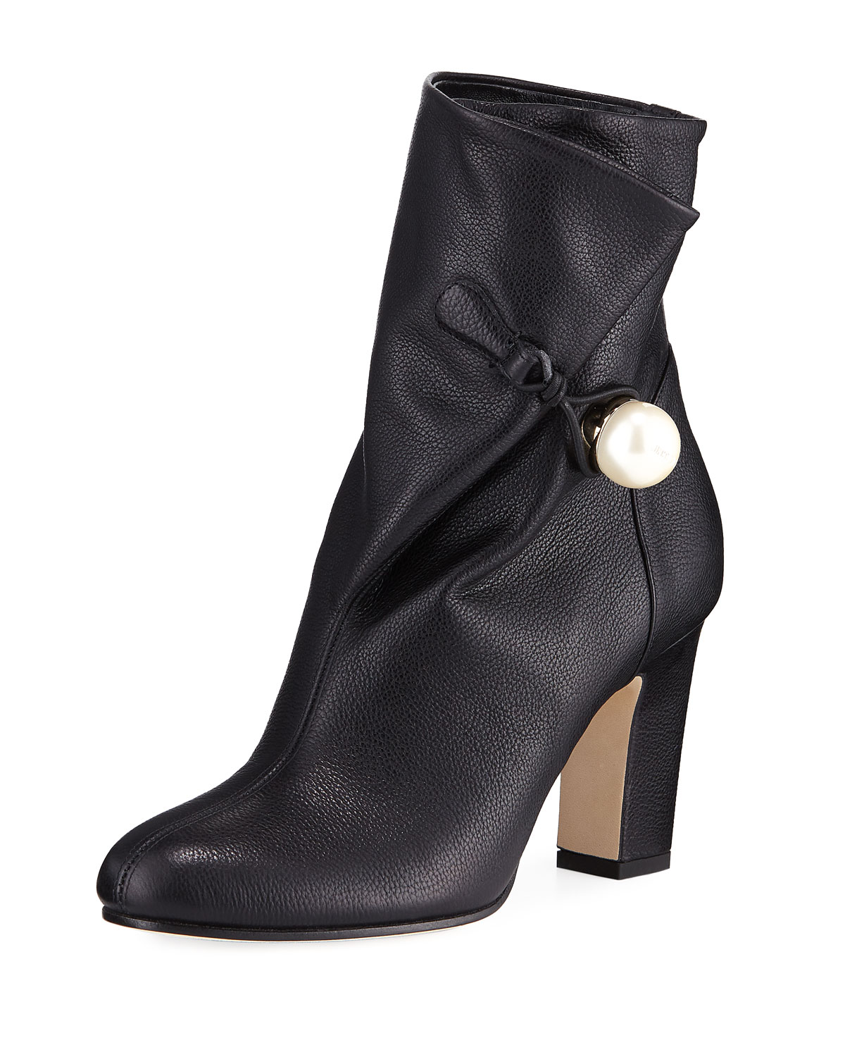 7189f30de201 Jimmy Choo Bethanie 85mm Leather Booties