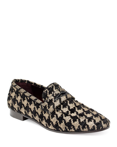 Tweed Slip-On Penny Loafer