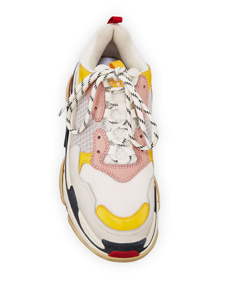 Colorblock Washed Triple Sneakers with Logo