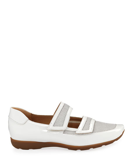 Sesto Meucci Gyan Patent Leather/Mesh Mary Jane Sneakers