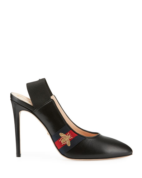 Sylvie 105mm Leather Slingback Pump
