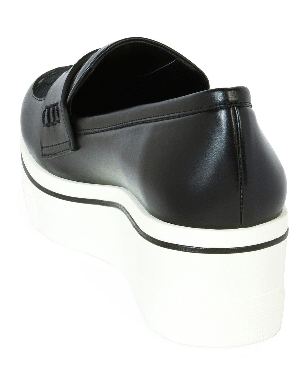 dad6b4939283d Stella McCartney Binx Lace Sneaker-Style Penny Loafer | Neiman Marcus