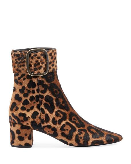 Joplin Leopard-Print Fur Booties