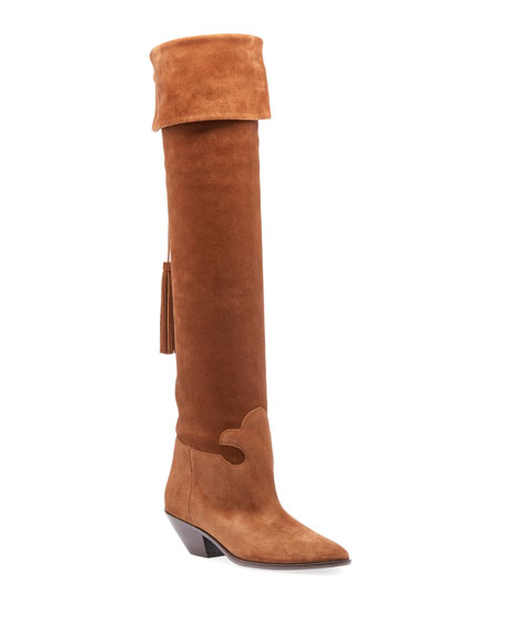 Lukas West Wyatt Over-The-Knee Boot in Medium Brown