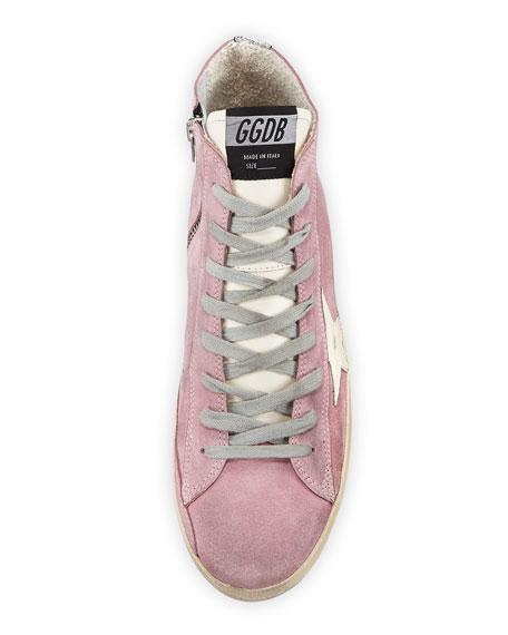 Francy Suede Star High-Top Sneakers