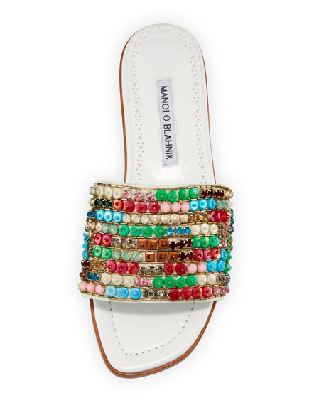 Gioiosa Embellished Flat Slide Sandal