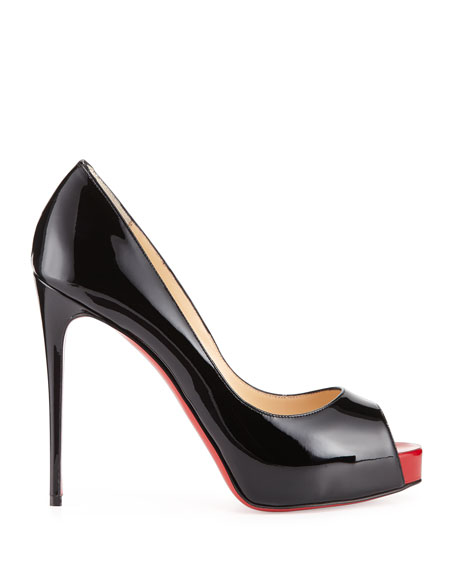 Image 2 of 3: Christian Louboutin New Very Prive Patent Red Sole Pump