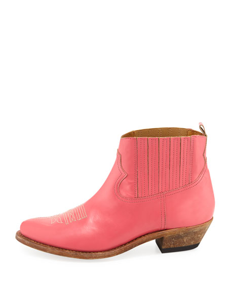 Crosby Leather Cowboy Ankle Boots