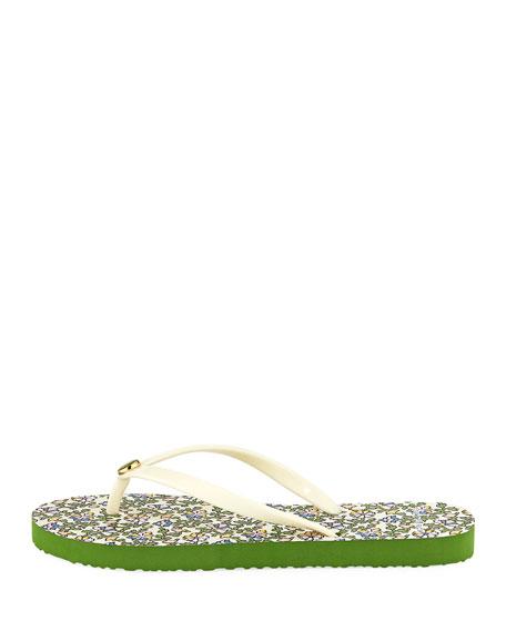 Thin Platform Printed Sandals