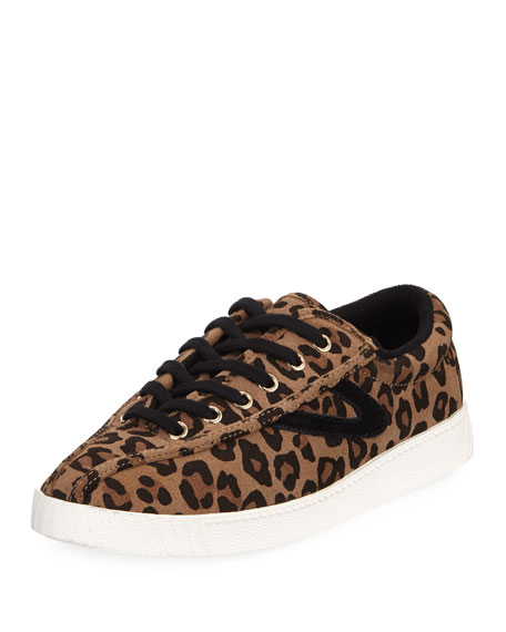 NY Lite 2 Plus Leopard-Print Suede Low-Top Sneaker