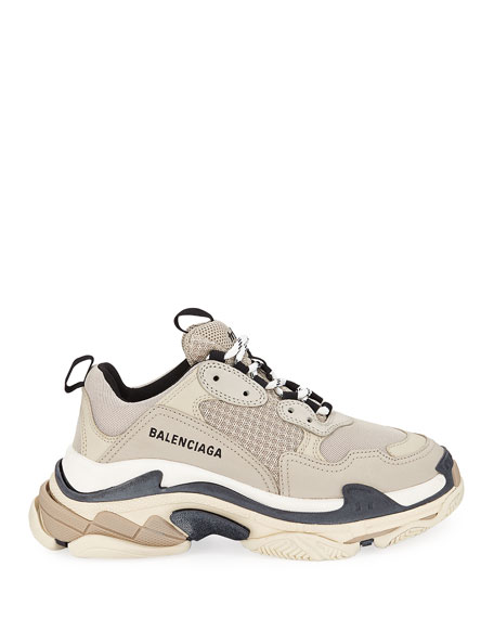 Balenciaga Mesh & Leather Trainer Sneakers