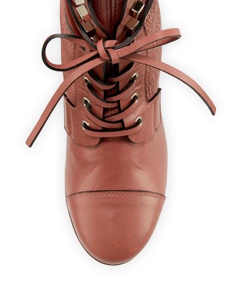 Veruka Leather Combat Sock Bootie