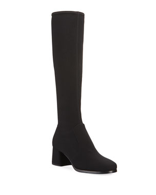 1a75592ff Prada Stretch-Tech Fabric Knee Boots