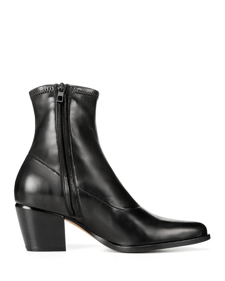 f6ba2013d0f Vince Hayek Stretch-Leather Booties   Neiman Marcus