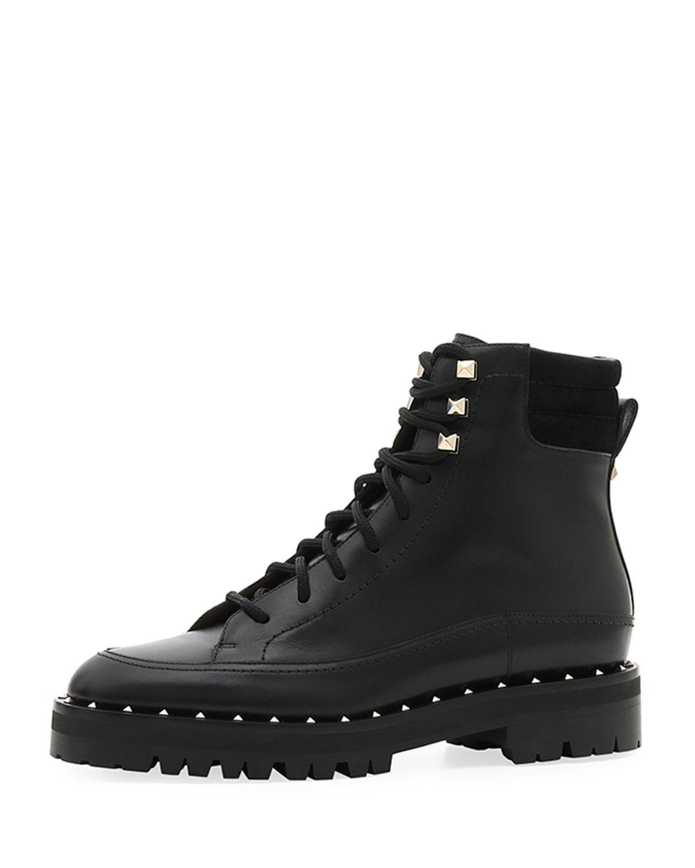 4fa72c167dd Soul Rockstud Leather Combat Boots