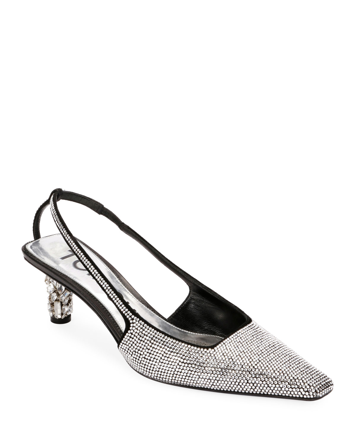 b377025a9ad7 TOM FORD Crystal-Beaded Slingback Pumps