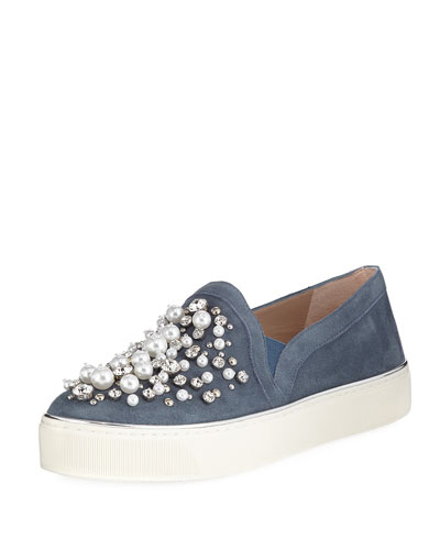 Decor Suede Embellished Sneakers