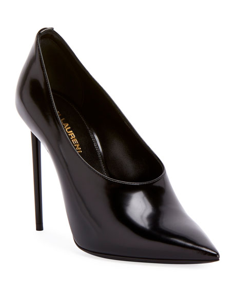 Saint Laurent Teddy High-Vamp Patent Leather Pumps