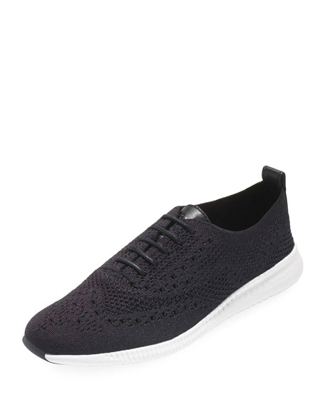 Cole Haan 2.ZeroGrand Stitchlite Knit Wingtip Oxford Sneakers, Black