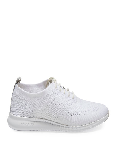 Cole Haan 2.ZeroGrand Stitchlite Knit Wingtip Oxford Sneakers, White