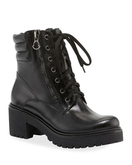 Moncler MM Viviane Scarpa Leather Hiker Boots