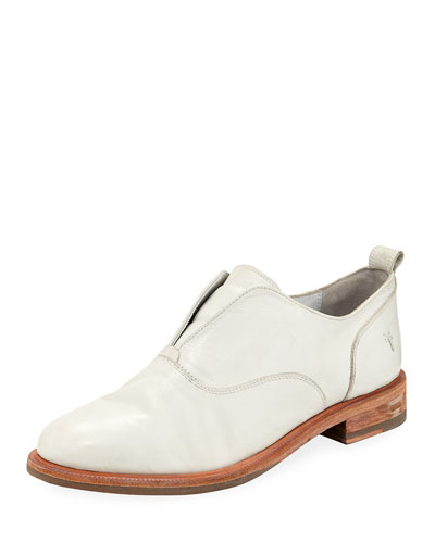 Kelly Open Leather Oxfords  White