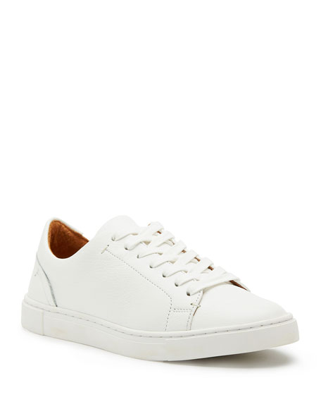 Frye Ivy Tumbled Leather Lace-Up Low-Top Sneakers
